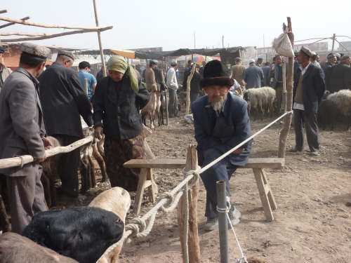 Today they still come to trade at the Sunday market at Kashgar.