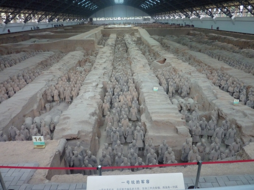 It would be wrong not to include a picture of at least one chamber of the famed warriors. The scale is amazing.