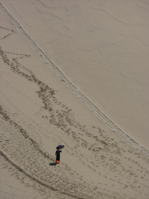 The singing sands at Dunhuang.
