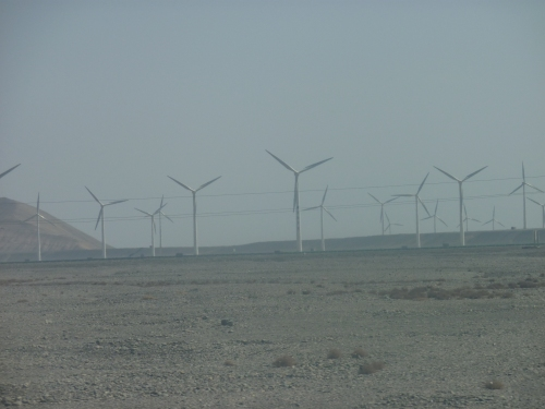 The Taklemakan is the world's second largest shifting sand desert with about 85% made up of shifting sand dunes. arid, remote, it has archeological remains back to the Greeks and modern wind farms.