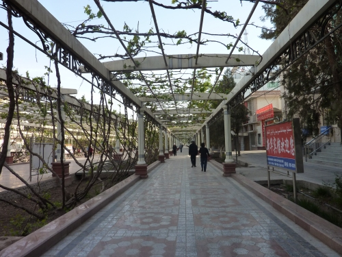 The gracious walkways of modern Turpan.