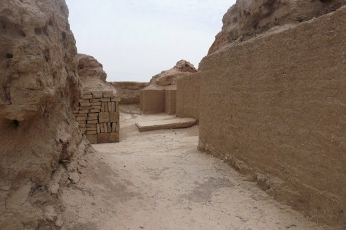 Re-ramped street at Mari, a sUmerian city from about 3000 BC = one of the oldest cities ever.