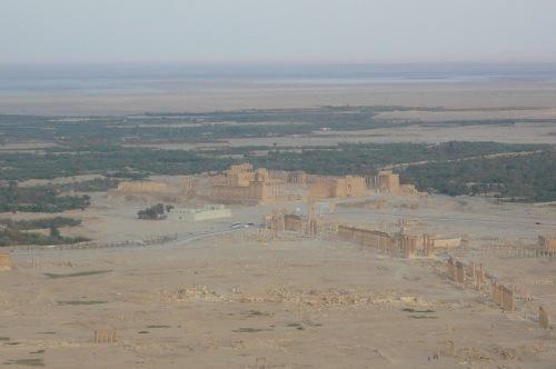 Palmyra in the distant desert where Zenobia was Queen