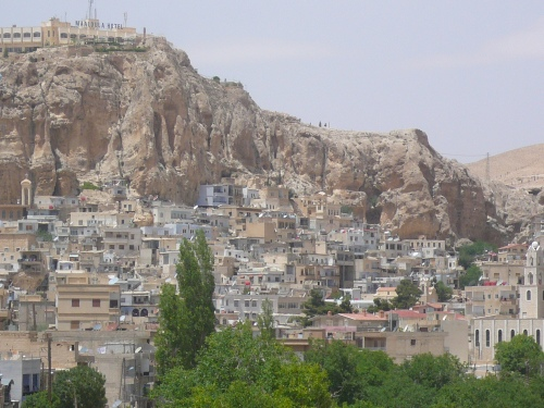 This Christian cliffside village was famous for the speaking of Aramaic, the language of Jesus. Islam had not reached along the once bumpy road from Damascus.