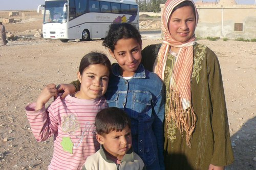 Have these children, met at a desert road house, managed to avoid the fighting?