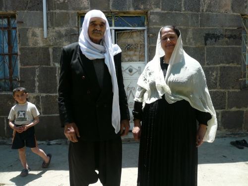 Druze elders off to a funeral.