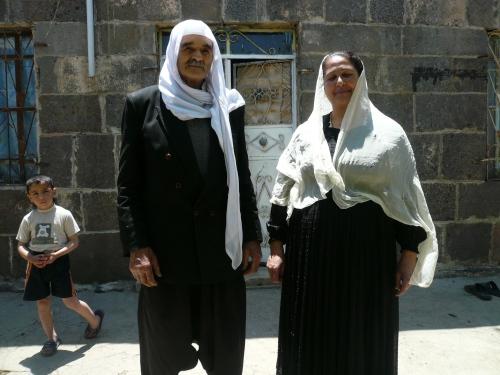 Druze elders off to a funeral.