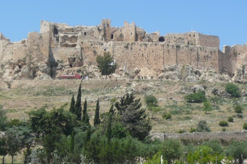 Musyaf Assassins' castle being restored by the Aga Kahn