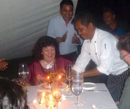 And then the chef presented the cake.