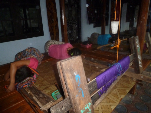 while the woman who weave the famous Lombok Ikat were have the very sensible midday nap.