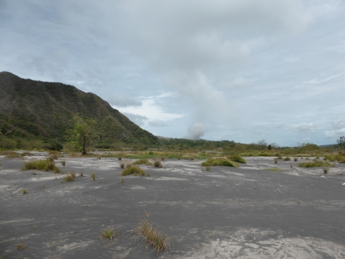 A suburb of Rabaul, Malaytown, once stood in this ash desert.