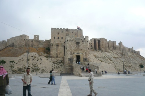 The Aleppo citadel. How damaged is it now I wonder?