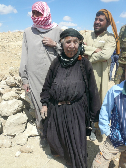 Some of the assistants at the Jebal Khalid dig