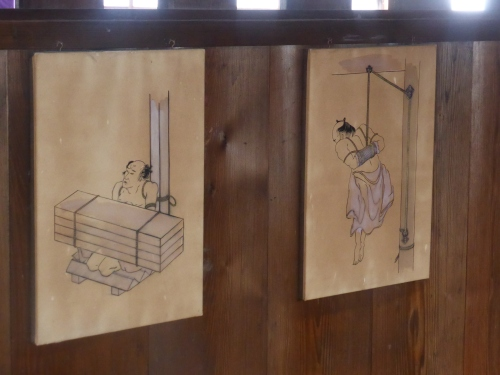 hard to  imagine these sketches of torture in the prison of the house when all around has that elegant serenity of the architecture