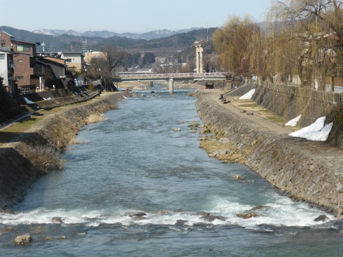 The river runs through the town