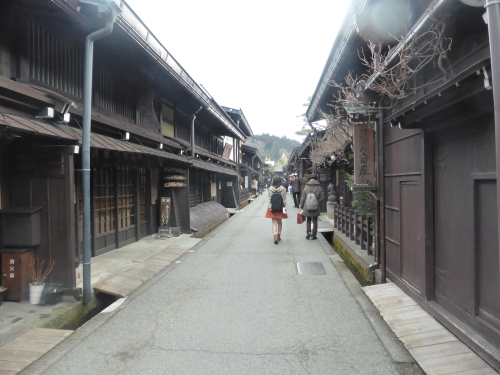 A street in the preserved Edo town