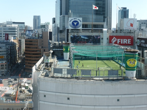 Rooftop soccer is the only way to get a fame in a packed urban centre