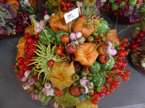 The splendid florist displays hint at the coming autumn.