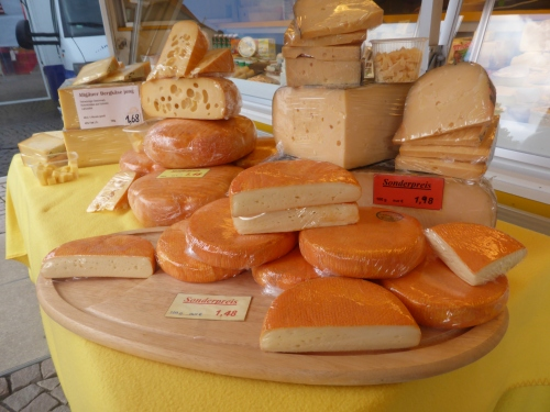 Wiesbaden has a  market twice a week in the city square; as always the cheeses are spectacular.
