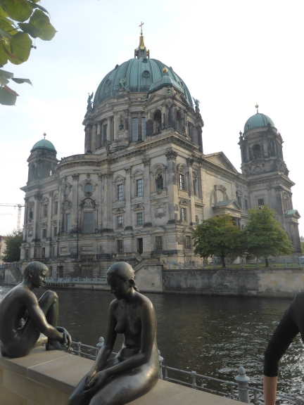 Berliner Dom, the royal court cathedral  built in 1905 stands by the River Spree,
