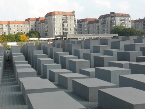 Here taking up a city block are theField of Stelae or the Holocaust Memorial.