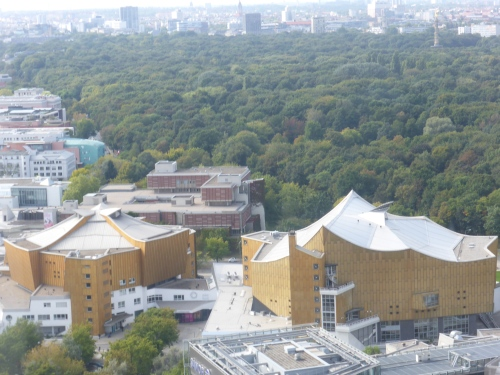 The one on the right is the Berlin Philharmonic concert hall