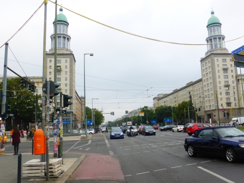 The workers strike in 1954 was by workers building the housing here at Frankfurter Tor.