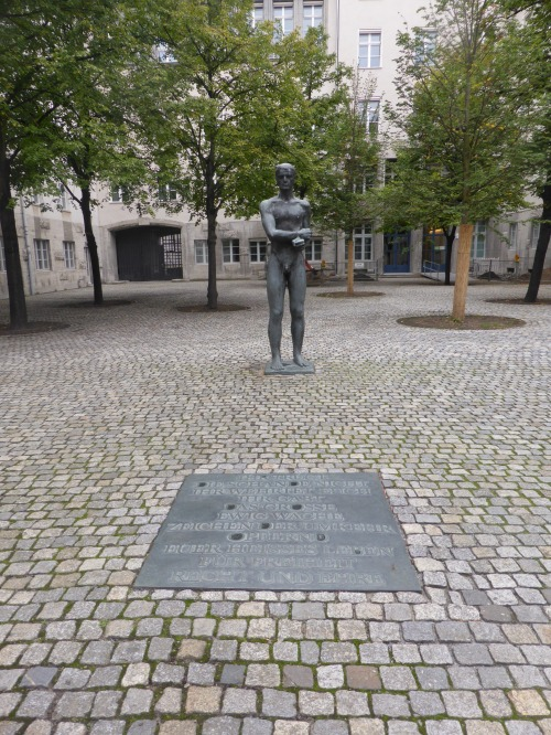 The memorial on the sport where the military men charged with the assassination plot against Hilter, were shot.