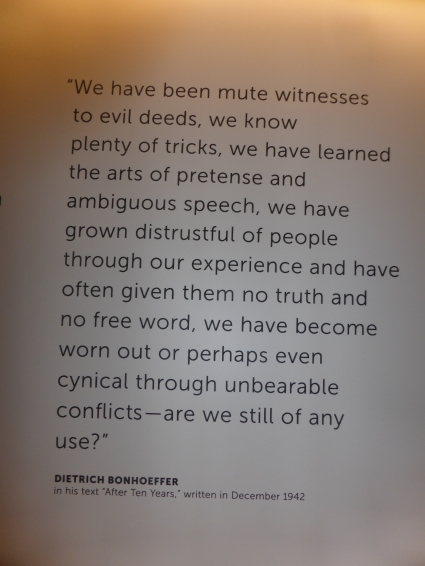 A small sign in this museum to those who tried to stand against the Nazis.