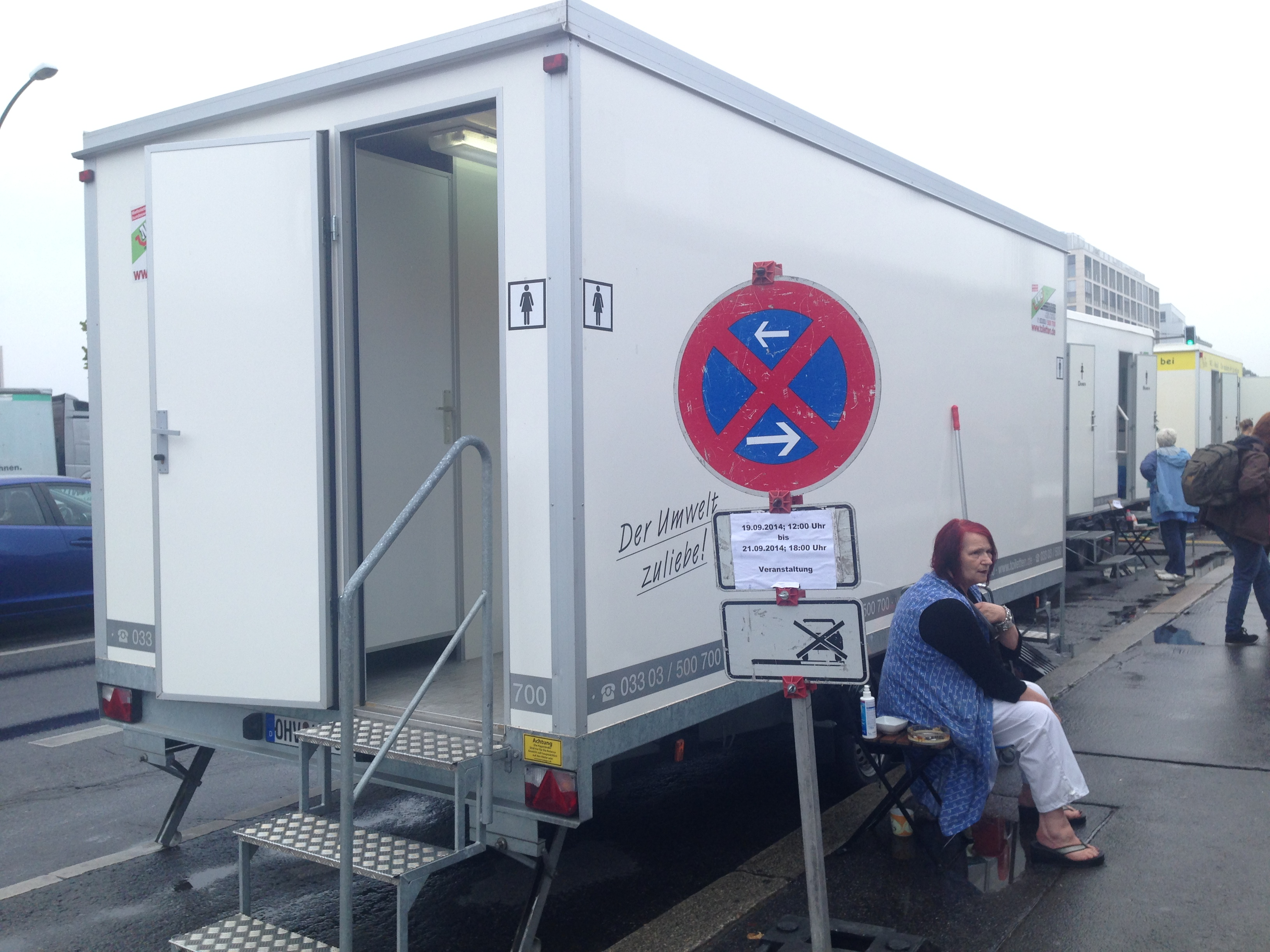 There's always a commercial opportunity – one of three mobile loos ...